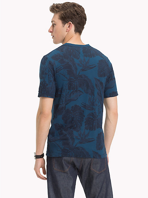 TOMMY HILFIGER Tropical Leaf Print T-Shirt - BLUE OPAL - TOMMY HILFIGER T-Shirts - detail image 1