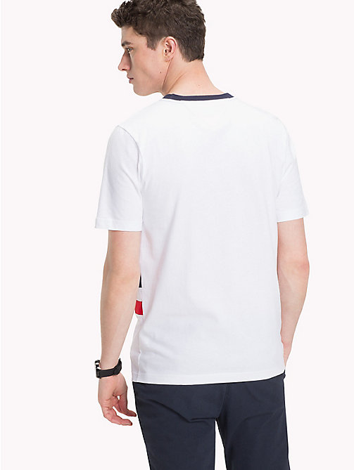 TOMMY HILFIGER Panel Stripe Tee - BRIGHT WHITE -  NEW IN - detail image 1