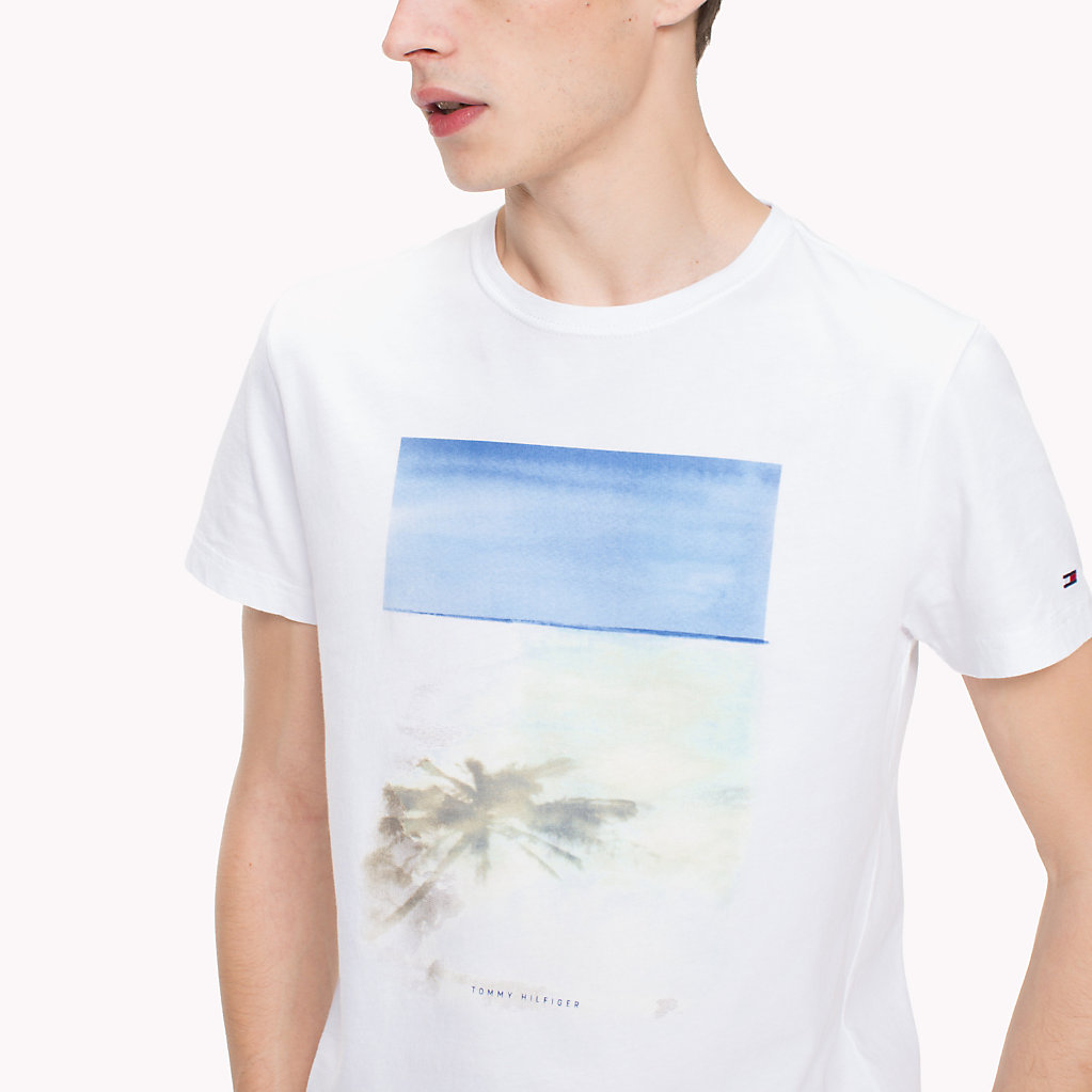 Tommy Hilfiger - Camiseta con estampado de playa y corte regular - 3