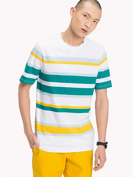 TOMMY HILFIGER Cotton Stripe T-Shirt - FANFARE - TOMMY HILFIGER Vacation Style - main image