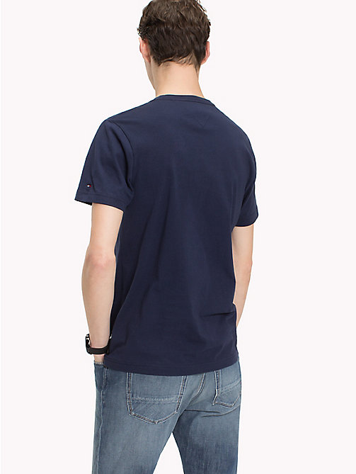 TOMMY HILFIGER Text Logo Regular Fit T-Shirt - MARITIME BLUE - TOMMY HILFIGER T-Shirts - detail image 1