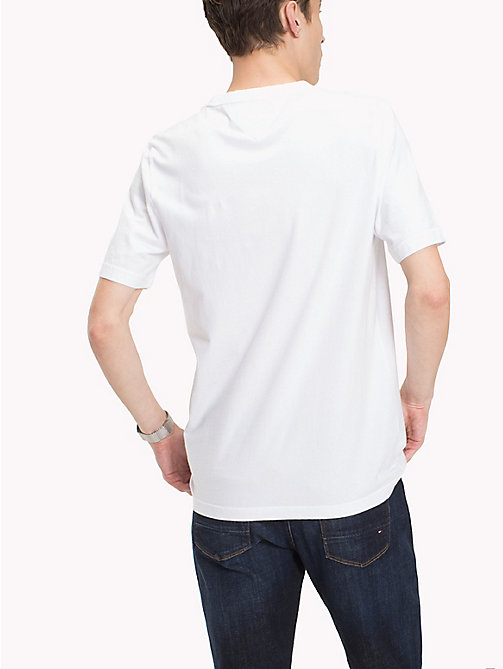 TOMMY HILFIGER Tropical Patch Pocket Tee - BRIGHT WHITE - TOMMY HILFIGER Vacation Style - detail image 1