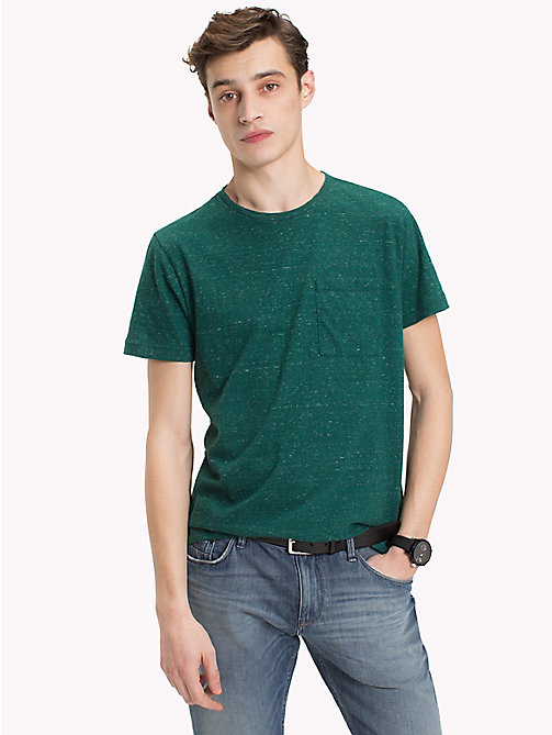 TOMMY HILFIGER Patch Pocket Tee - FOREST BIOME HEATHER - TOMMY HILFIGER T-Shirts - main image