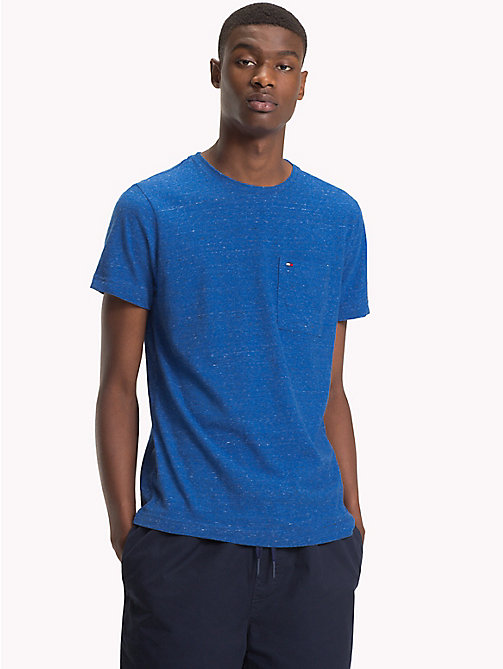 TOMMY HILFIGER Patch Pocket Tee - STRONG BLUE HEATHER - TOMMY HILFIGER T-Shirts - main image