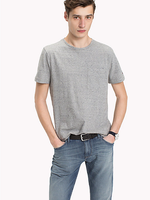 TOMMY HILFIGER Patch Pocket Tee - CLOUD HTR - TOMMY HILFIGER T-Shirts - main image