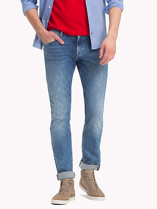 TOMMY HILFIGER Slim Fit Denim Jeans - BETHUNE BLUE - TOMMY HILFIGER Slim-Fit Jeans - main image
