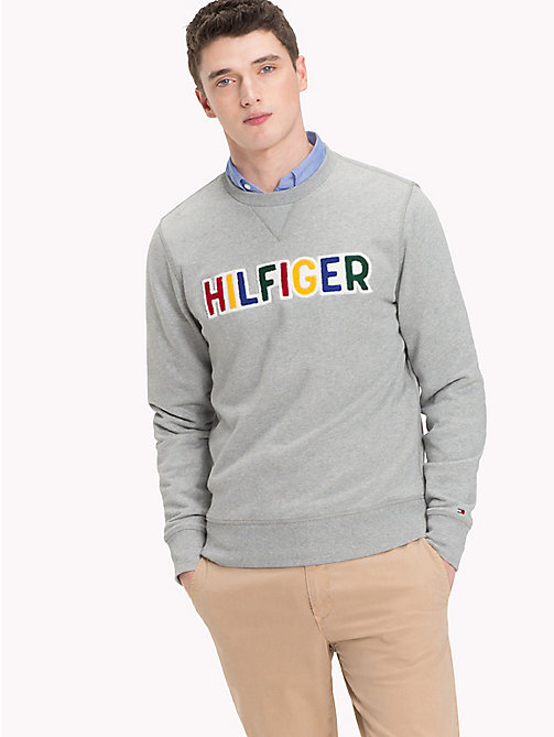 TOMMY HILFIGER Colourful Logo Jumper - CLOUD HTR - TOMMY HILFIGER NEW IN - main image