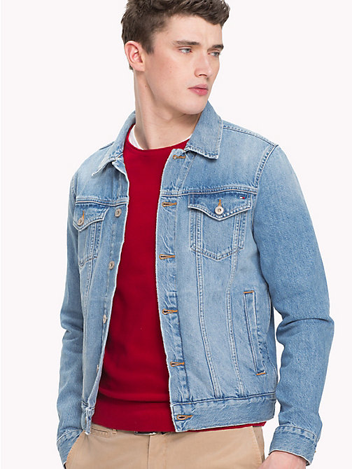 TOMMY HILFIGER Panelled Denim Jacket - MATERA BLUE - TOMMY HILFIGER Jackets - main image