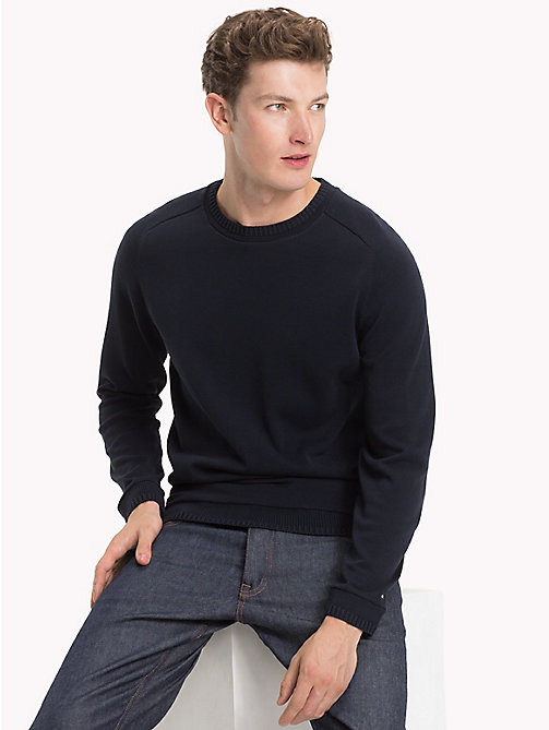 TOMMY HILFIGER Classic Lightweight Cotton Jumper - SKY CAPTAIN - TOMMY HILFIGER Jumpers - main image