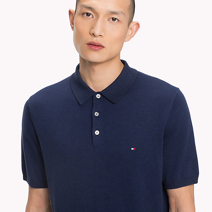 TOMMY HILFIGER Knitted Polo Shirt - TURTLEDOVE HEATHER - TOMMY HILFIGER Men - detail image 2