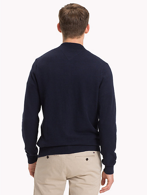 TOMMY HILFIGER Zip Front Baseball Jacket - SKY CAPTAIN - TOMMY HILFIGER Clothing - detail image 1