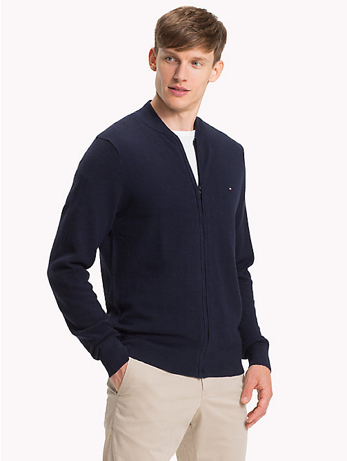 TOMMY HILFIGER Zip Front Baseball Jacket - SKY CAPTAIN - TOMMY HILFIGER Rebajas Men - main image