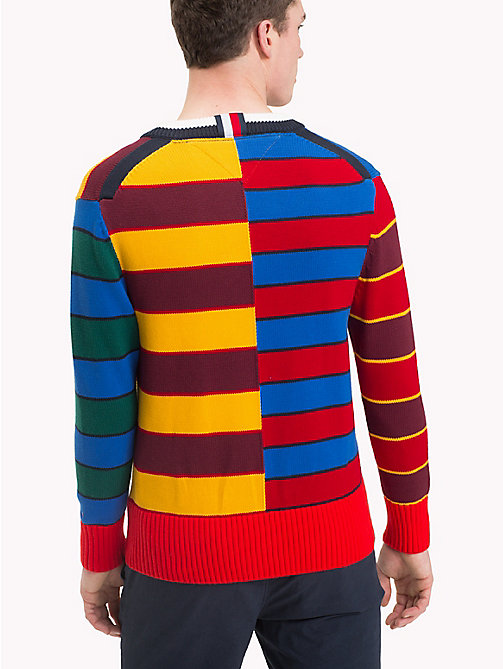 TOMMY HILFIGER Abstract Colour-Blocked Jumper - HAUTE RED - TOMMY HILFIGER NEW IN - detail image 1