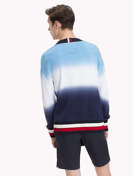TOMMY HILFIGER Dip Dyed Oversized Jumper - MARITIME BLUE -  NEW IN - detail image 1