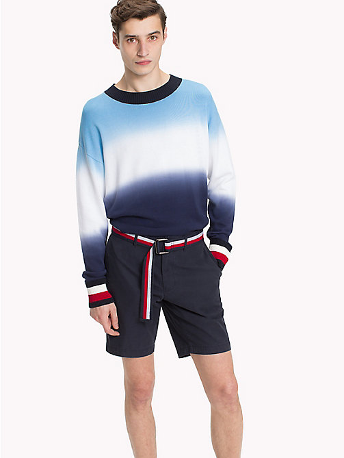 TOMMY HILFIGER Dip Dyed Oversized Jumper - MARITIME BLUE -  NEW IN - main image