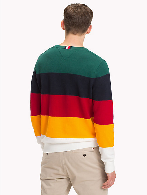 TOMMY HILFIGER Colour-Blocked Crew Neck Jumper - FOREST BIOME - TOMMY HILFIGER NEW IN - detail image 1