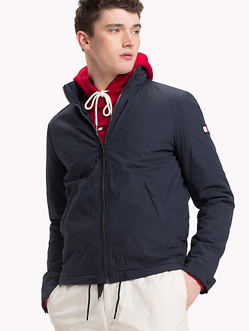 TOMMY HILFIGER Padded Cotton Jacket - SKY CAPTAIN - TOMMY HILFIGER Jackets - main image