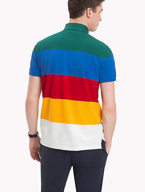 TOMMY HILFIGER Cotton Colour-Blocked Polo - FOREST BIOME / MULTI -  Polo Shirts - detail image 1