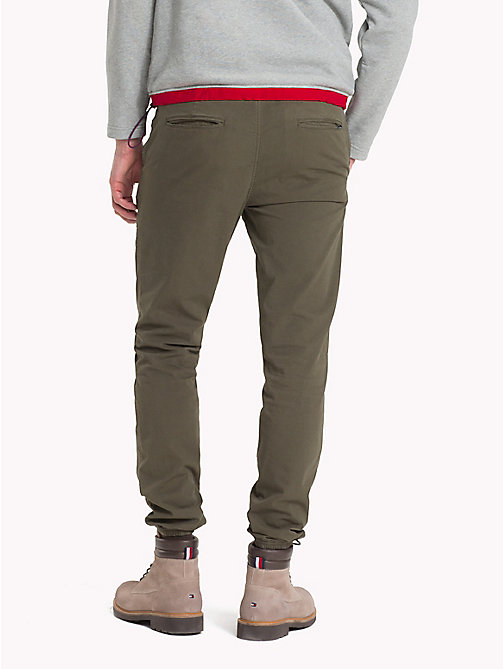 TOMMY HILFIGER Straight Fit Ripstop Joggers - IVY GREEN - TOMMY HILFIGER Trousers & Shorts - detail image 1