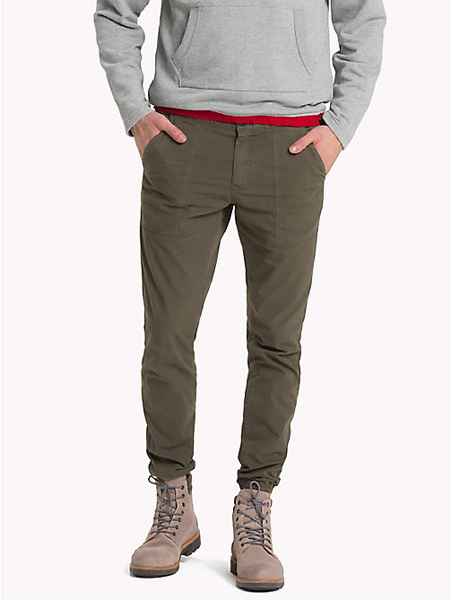 TOMMY HILFIGER Straight Fit Ripstop Joggers - IVY GREEN - TOMMY HILFIGER Sweatpants - main image