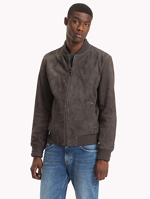 TOMMY HILFIGER Bomber reversibile in suede - GRAY PINSTRIPE - TOMMY HILFIGER Giacche - immagine principale