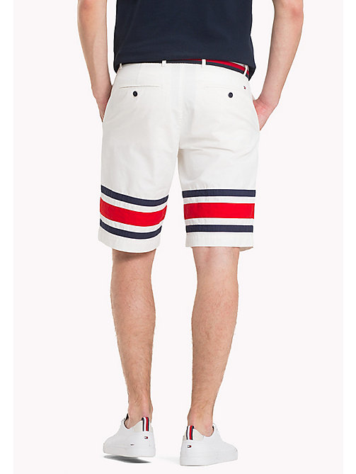 TOMMY HILFIGER Signature Stripe Hem Shorts - SNOW WHITE - TOMMY HILFIGER Shorts - detail image 1