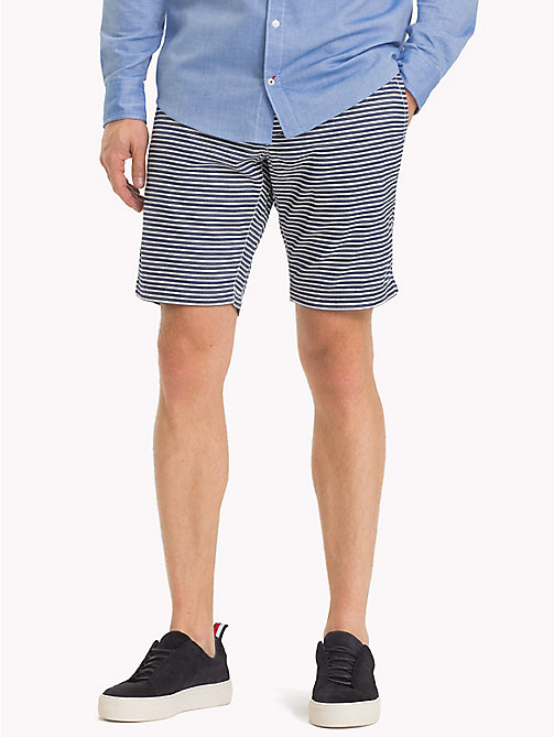 TOMMY HILFIGER Seersucker Stripe Shorts - SKY CAPTAIN - TOMMY HILFIGER Shorts - main image