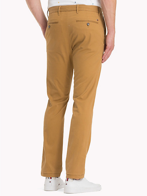 TOMMY HILFIGER Pima Cotton Straight Fit Chinos - DIJON - TOMMY HILFIGER Chinos - detail image 1