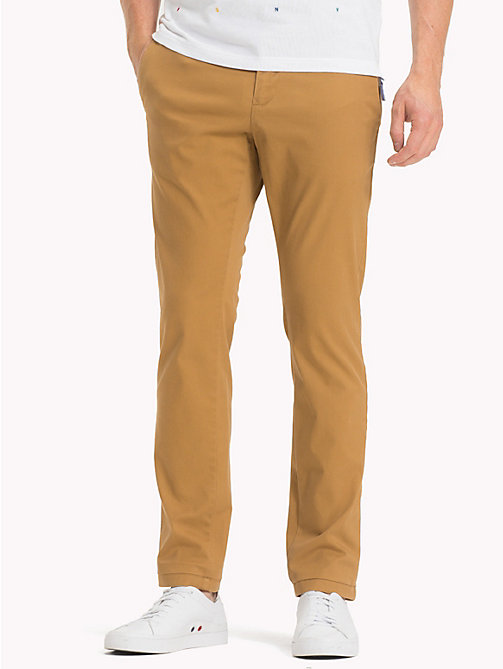 TOMMY HILFIGER Pima Cotton Straight Fit Chinos - DIJON - TOMMY HILFIGER Chinos - main image