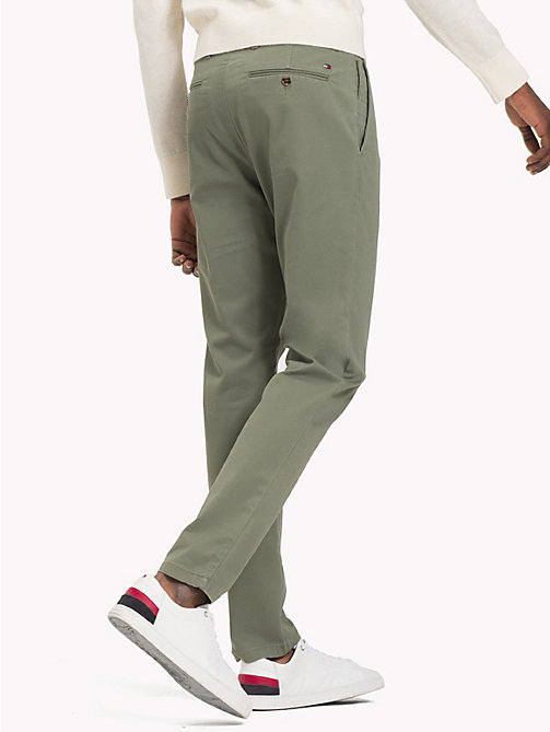 TOMMY HILFIGER Pima Cotton Straight Fit Chinos - DUSTY OLIVE - TOMMY HILFIGER Chinos - detail image 1