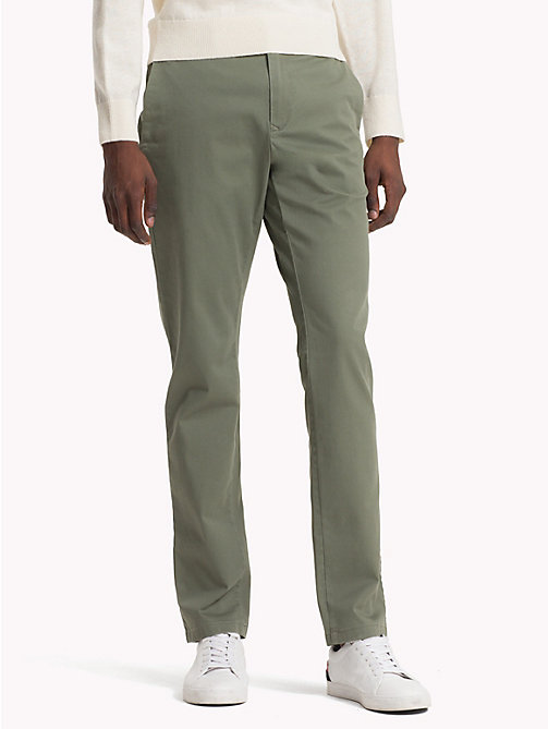 TOMMY HILFIGER Pima Cotton Straight Fit Chinos - DUSTY OLIVE - TOMMY HILFIGER Chinos - main image