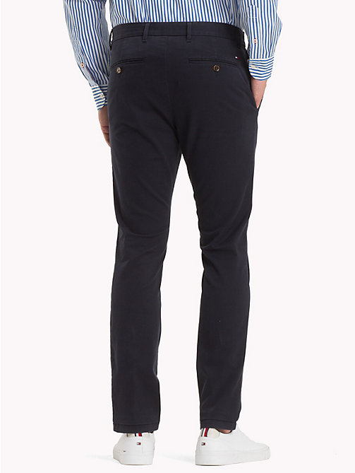 TOMMY HILFIGER Pima Cotton Straight Fit Chinos - SKY CAPTAIN - TOMMY HILFIGER Chinos - detail image 1