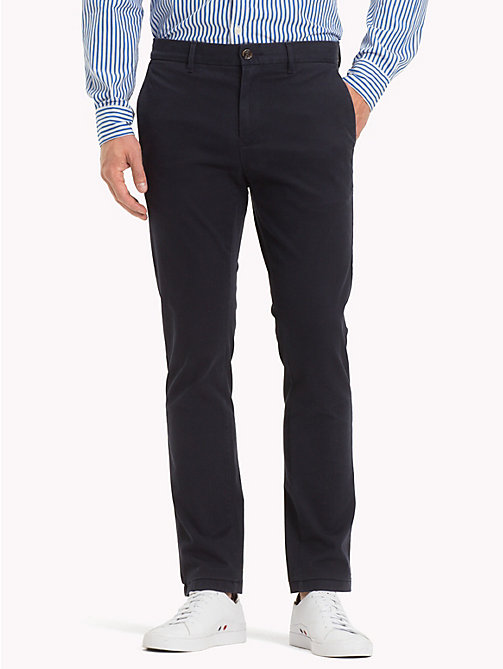 TOMMY HILFIGER Pima Cotton Straight Fit Chinos - SKY CAPTAIN - TOMMY HILFIGER Black Friday Men - main image