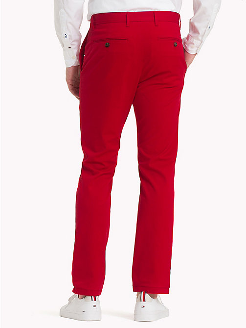 TOMMY HILFIGER Pima Cotton Straight Fit Chinos - HAUTE RED - TOMMY HILFIGER Chinos - detail image 1