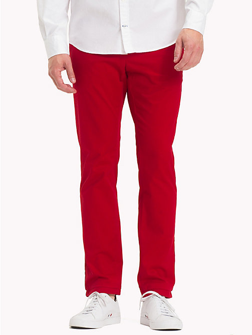 TOMMY HILFIGER Pima Cotton Straight Fit Chinos - HAUTE RED - TOMMY HILFIGER Chinos - main image