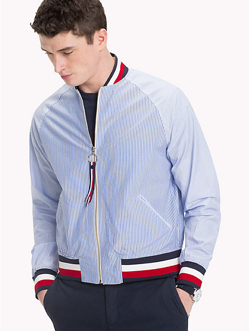 TOMMY HILFIGER Multi Stripe Bomber Jacket - SHIRT BLUE / BRIGHT WHITE / MULTI - TOMMY HILFIGER Bomber Jackets - detail image 1