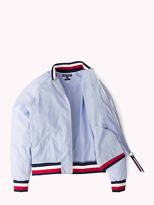 TOMMY HILFIGER Multi Stripe Bomber Jacket - SHIRT BLUE / BRIGHT WHITE / MULTI - TOMMY HILFIGER Bomber Jackets - main image