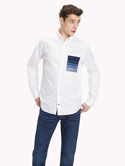 TOMMY HILFIGER Navajo Stripe Pocket Shirt - BRIGHT WHITE / MULTI - TOMMY HILFIGER Casual Shirts - detail image 1