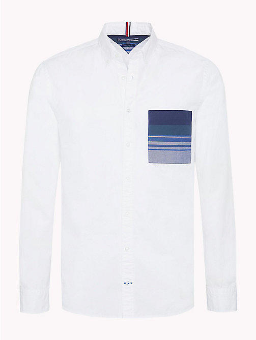 TOMMY HILFIGER Navajo Stripe Pocket Shirt - BRIGHT WHITE / MULTI - TOMMY HILFIGER Casual Shirts - main image