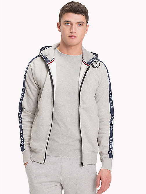 TOMMY HILFIGER Zip-Thru Hoodie - CLOUD HTR - TOMMY HILFIGER Hoodies - main image