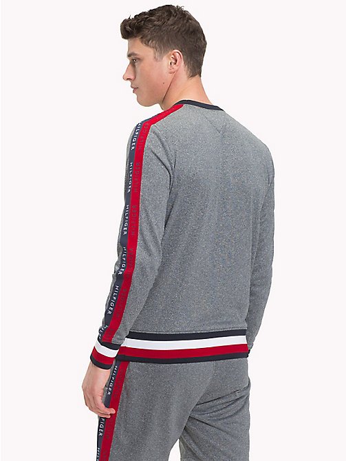 TOMMY HILFIGER Athletic Logo Sweatshirt - CLOUD HTR - TOMMY HILFIGER Sweatshirts & Knitwear - detail image 1