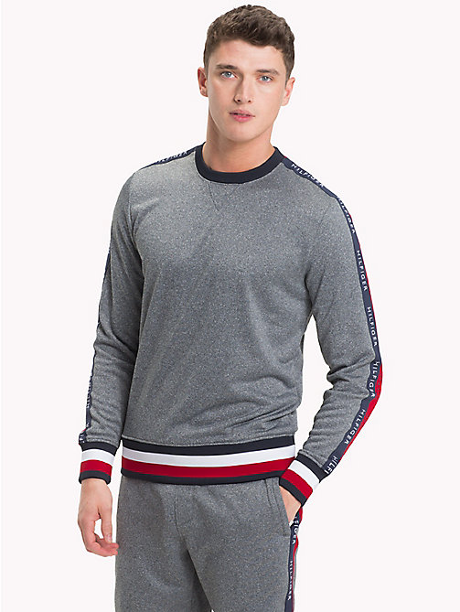 TOMMY HILFIGER Athletic Logo Sweatshirt - CLOUD HTR - TOMMY HILFIGER Clothing - main image