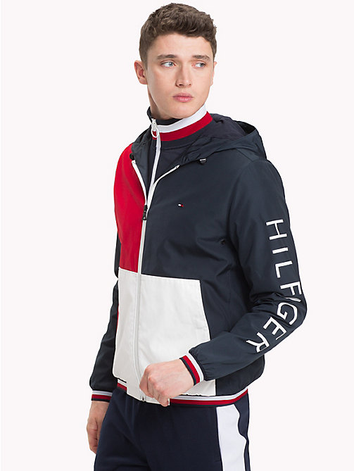 TOMMY HILFIGER Athletic Hooded Jacket - SKY CAPTAIN - TOMMY HILFIGER Jacks - main image