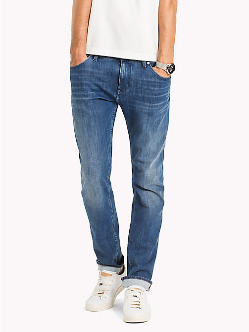TOMMY HILFIGER Big & Tall Faded Relaxed Fit Jeans - BUCKEYE BLUE - TOMMY HILFIGER Big & Tall - main image