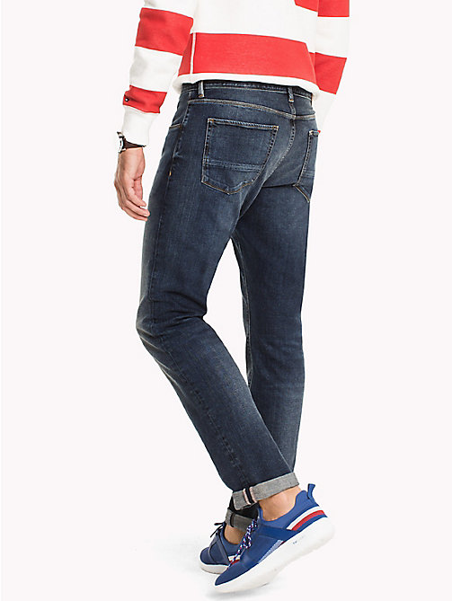 TOMMY HILFIGER Big & Tall Distressed Relaxed Fit Jeans - AMBOY INDIGO - TOMMY HILFIGER Big & Tall - detail image 1