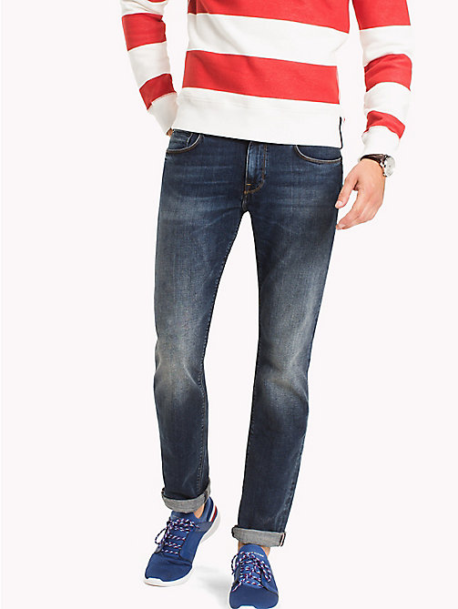TOMMY HILFIGER Big & Tall Distressed Relaxed Fit Jeans - AMBOY INDIGO - TOMMY HILFIGER Big & Tall - main image