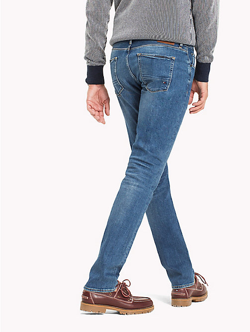 TOMMY HILFIGER Big & Tall Stretch Relaxed Fit Jeans - ATLANTA BLUE - TOMMY HILFIGER Big & Tall - detail image 1