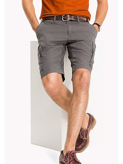 TOMMY HILFIGER Light Twill Cargo Shorts - Big & Tall - MAGNET - TOMMY HILFIGER Shorts - main image