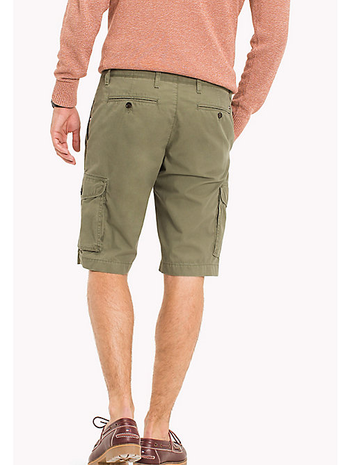 TOMMY HILFIGER Big & Tall Light Twill Cargo Shorts - FOUR LEAF CLOVER - TOMMY HILFIGER Big & Tall - detail image 1