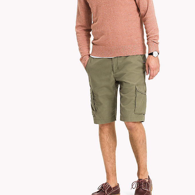 TOMMY HILFIGER Light Twill Cargo Shorts - Big & Tall - MAGNET - TOMMY HILFIGER Hommes - image principale